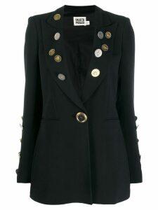 Fausto Puglisi coin embellished blazer - Black