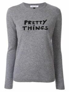 Bella Freud Pretty Things slogan sweater - Grey
