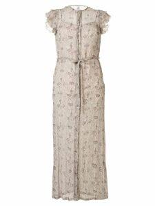 Sir. printed Anya dress - NEUTRALS