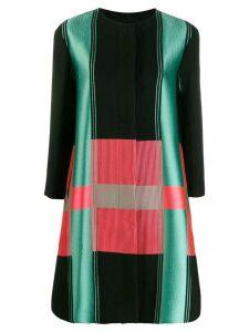 Emporio Armani colour blocked coat - Black