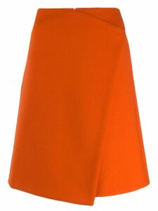 Luisa Cerano wrapped front skirt - Orange