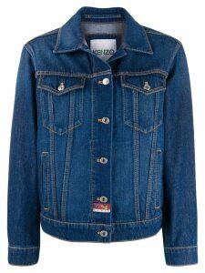 Kenzo embroidered denim jacket - Blue