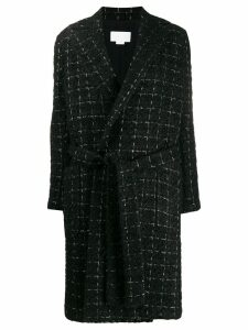 Genny Trench Chanel multi fili lurex - Black