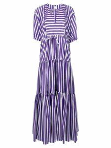 Maison Rabih Kayrouz flared striped dress - Purple
