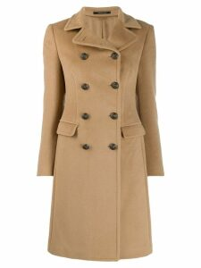 Tagliatore double-breasted midi coat - Neutrals