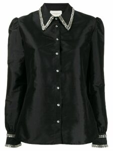 Giuseppe Di Morabito raw satin embellished shirt - Black