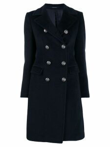 Tagliatore double-breasted midi coat - Blue
