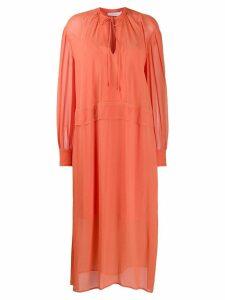 Calvin Klein oversized shirt dress - Orange