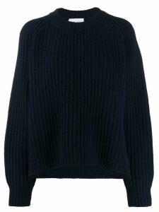 Christian Wijnants oversized rib knit jumper - Blue