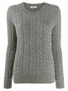Blumarine sparkly cable knit jumper - Grey