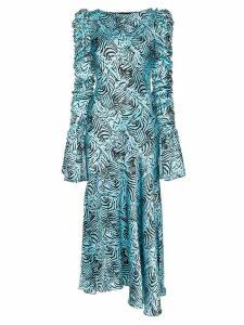 De La Vali Clementine printed maxi dress - Blue