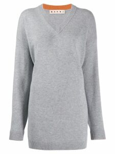 Marni v-neck oversized jumper - Grey