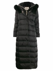 Herno padded layered coat - Black