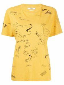 Isabel Marant Étoile Zewel T-shirt - Yellow