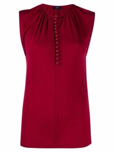 Joseph button trim tank top - Red