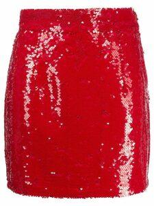 Amen sequin mini skirt - Red
