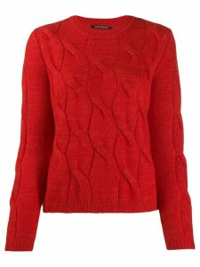 Luisa Cerano cable knit jumper - Red
