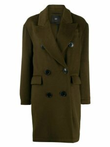 Steffen Schraut double breasted coat - Green