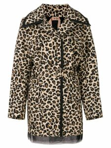 Nº21 leopard print trench coat - Neutrals