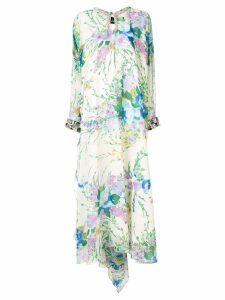 Richard Quinn oversized floral maxi dress - Green