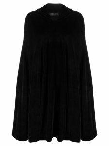 Barbara Bologna curved hoodie - Black