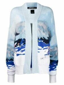 Pinko ski intarsia cardigan - Blue