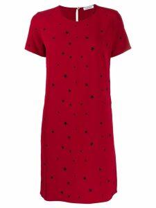 P.A.R.O.S.H. short star print dress - Red