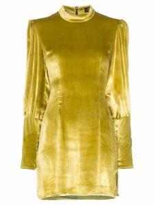De La Vali Jane velvet mini dress - Yellow