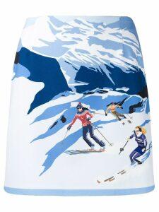 Pinko ski print skirt - Blue