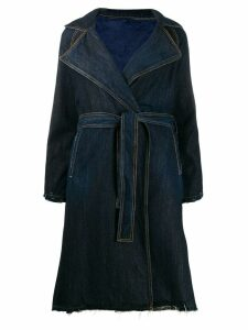 Pinko denim trench coat - Blue