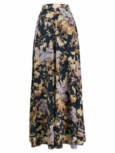 Zimmermann high waisted printed skirt - Blue