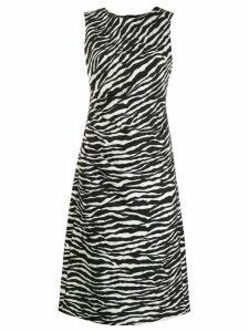 P.A.R.O.S.H. Abito Zebra print dress - White