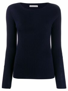 Stefano Mortari long-sleeve fitted sweater - Blue