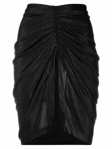Iro ruched midi skirt - Black