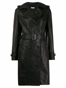 P.A.R.O.S.H. double breasted leather coat - Black