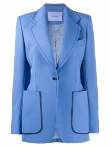 Mugler single-breasted fitted blazer - Blue