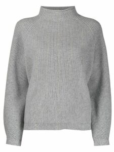 Peserico ribbed knit sweater - Grey