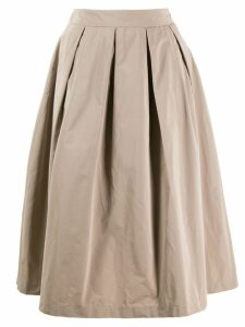 Peserico pleated midi skirt - NEUTRALS