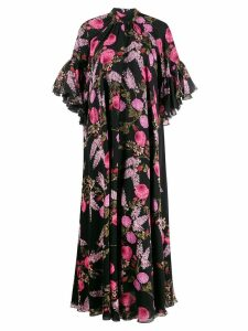 Giambattista Valli floral print long dress - Black