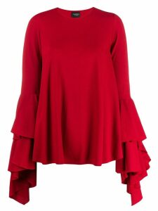 Giambattista Valli ruffled top - Red