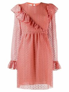 Giambattista Valli ruffle trim dress - Pink