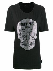 Philipp Plein crystal skull T-shirt - Black