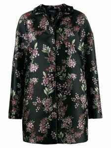 Giambattista Valli floral pattern coat - Black