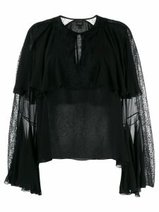 Giambattista Valli billow sleeve blouse - Black