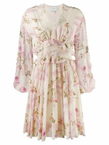 Giambattista Valli floral print day dress - Neutrals