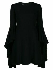 Giambattista Valli deep ruffle sleeve mini dress - Black