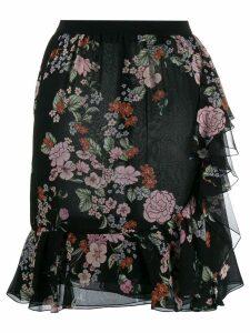 Giambattista Valli floral print peplum skirt - Black