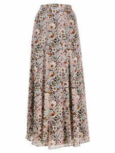 Giambattista Valli floral print full skirt - Pink