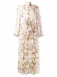 Giambattista Valli floral print dress - Neutrals