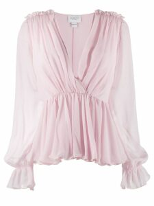 Giambattista Valli gathered waist blouse - Pink